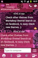 Screenshot of GO SMS Theme Pink Dark Star