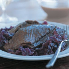 Sauerbraten with Red Cabbage