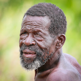 Never give up! by Bill Walmisley - People Portraits of Men ( face, african, farmer, old. man, wrinkled )