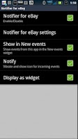 Screenshot of SmartWatch Notifier for eBay