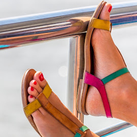 Relaxed by Adrian Ioan Ciulea - People Fashion ( shoes, colors, sea, feet, nails )