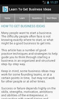 Screenshot of Startup & Business Ideas