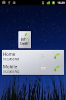 Screenshot of Call Button Widget