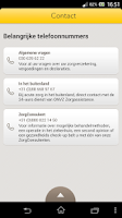 Screenshot of ONVZ Zorgpas