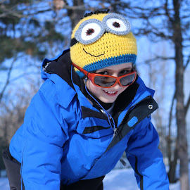 Minion On Snow by Roman Bogdan - Babies & Children Child Portraits
