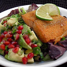 Salmon With Pomegranate-Avocado Salsa