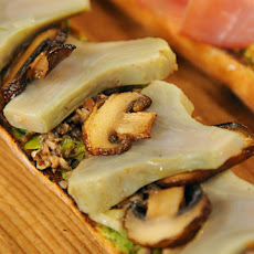 Open-Faced Baguette with Mushrooms and Artichokes