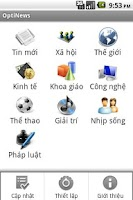 Screenshot of OptiNews - Tin tức Việt