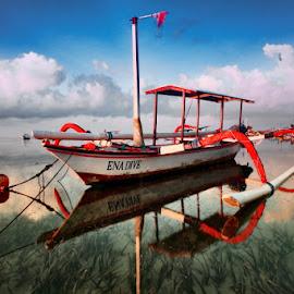 Morning Reflection :) by Igusti Ngurah Semara AdiPutra - Transportation Boats