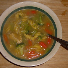 Broccoli & Chicken Noodle Soup
