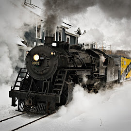 Soo Line 1003 by Ben Podolak - Transportation Trains ( 1003, locomotive, steam train, snow, soo line,  )