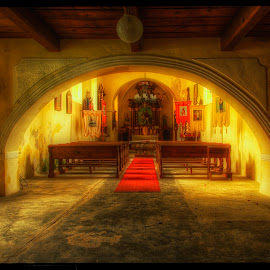 Church in Nicov by Petr Klingr - Buildings & Architecture Places of Worship ( nicov, ancient, church, hdr, cemetery )