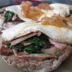 Barb's Supreme Curried Ham and Egg Stacks