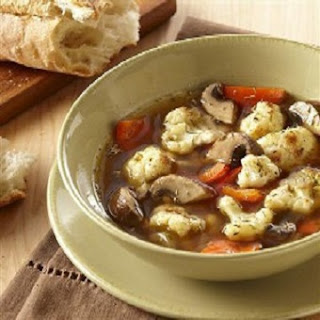 Healthy Cauliflower-Mushroom Soup