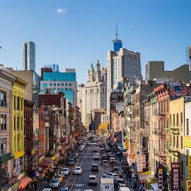 Chinatown by Robert Peterson - City,  Street & Park  Neighborhoods ( chinatown, manhattan, new york )