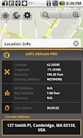 Screenshot of eGPS Altitude Pro