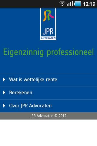 JPR Wettelijke rente
