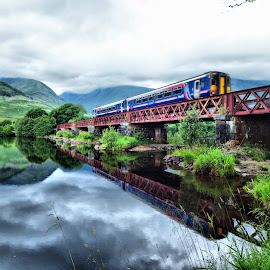 Loch Awe by Martin Hughes - Transportation Trains
