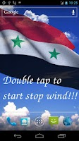 Screenshot of 3D Syria Flag Live Wallpaper