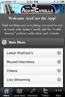 Screenshot of AceCaster