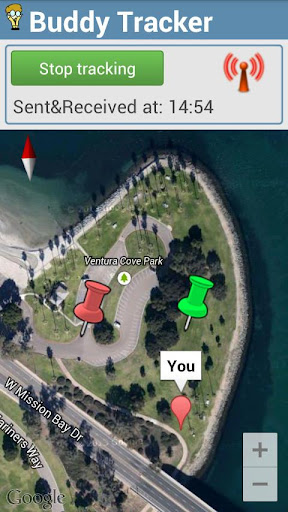 buddy-gps-tracker for android screenshot