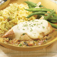 Sauteed Chicken With Brie & Vegetable Sauce