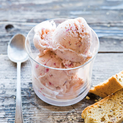 Strawberry-Crème Fraîche Ice Cream