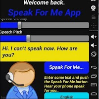 Screenshot of Speak For Me App