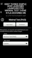 Screenshot of Minimal Text THEME - PAID