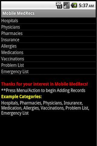 Mobile MedRecs Classic