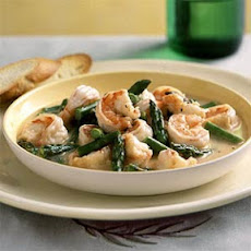 Hot Garlic Shrimp and Asparagus