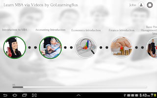 Screenshot of Learn MBA via Videos