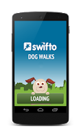 Screenshot of Swifto walker app