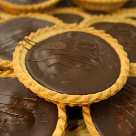 Chocolate tarts by Mark Brown - Food & Drink Cooking & Baking ( cake, chocolate, desert, tart, food, baking,  )