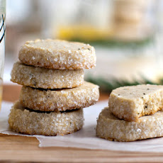 Rosemary Lemon Shortbread Cookies