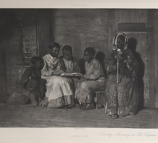 Genre painting depicted scenes from ordinary life. This is a reproduction from Sheldon's <i>Recent Ideals of American Art</i>.