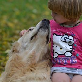 Jordan and her dog Charlie by Dawn Marie - Babies & Children Children Candids