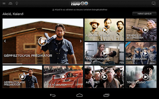 Screenshot of HBO GO Hungary
