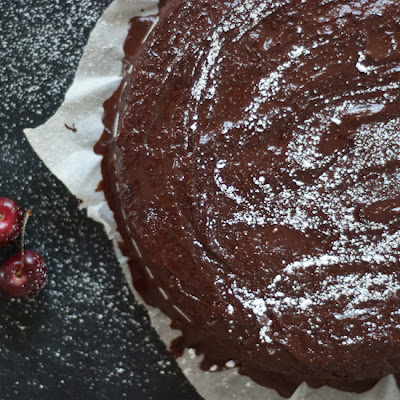 Vegan Cherry Chocolate Cake
