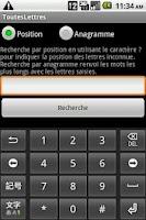 Screenshot of Jeux de lettres aide