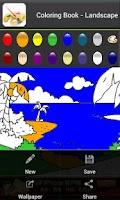 Screenshot of Coloring book - Landscape