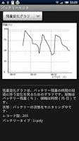 Screenshot of バッテリーモニタ