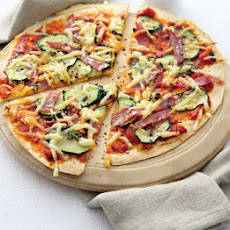 Hot Salami & Courgette Flatbread