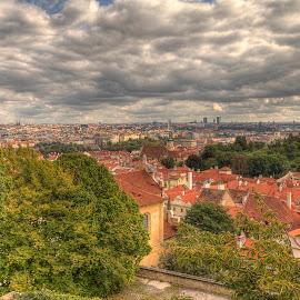 City of Prague by Mirkka Andersson - City,  Street & Park  Skylines ( clouds, 2014, prague, city )