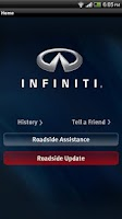 Screenshot of Infiniti Roadside Assistance