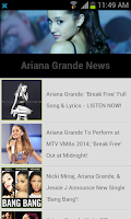 Screenshot of Ariana Grande Songs