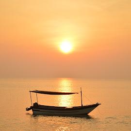 Sunrise boat by Mohd Haffiz - Transportation Boats