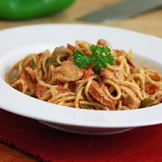 Slow Cooker Cajun Chicken Spaghetti