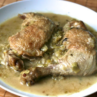 Braised Chicken with Leeks and Cream