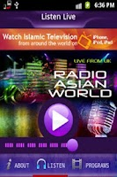 Screenshot of Radio Asian World